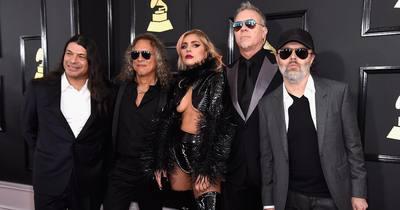 Metallica заспівали на Греммі з Леді Гагою