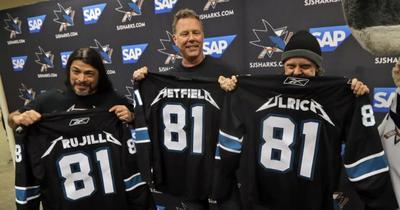 Metallica виступила талісманом команди San Jose Sharks