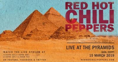 RHCP наживо транслюватимуть концерт біля Пірамід