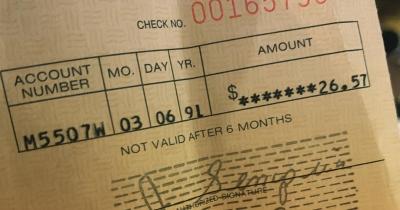 Перший чек за альбом Nevermind склав 26 доларів
