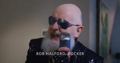 Роб Хелфорд співає в рекламі
