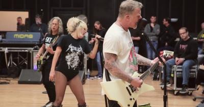 Metallica показали репетиції з Леді Гагою