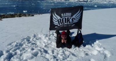 Прапор Radio ROKS відвідав Антарктиду!